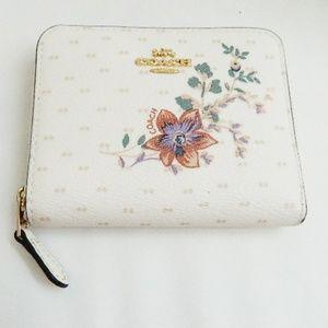 COACH Magnolia Bouquet Small Zip Around Wallet